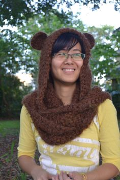 Super Soft Fuzzy Brown Bear Scoodie - Made to Order