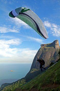 Paraglider in Rio de Janeiro. Brazil. by Fabio Sant'Ana