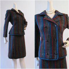 70s 80s Suit Vintage Givenchy Nouvelle Boutique Jacket and Skirt. $165.00, via Etsy.