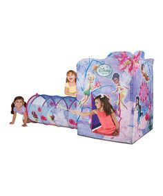 Featuring patented Twist 'N' Fold technology, this lightweight pixie play tent can be set up anywhere in seconds flat. It's constructed from durable material and boasts multiple tunnel ports, a flap door, a hideaway hut and a detachable play tunnel that provide hours of imaginative play. 70'' W x 36'' H x 30'' DPolyester...