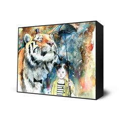 Mr. Tiger Mini Block now featured on Fab. [Lora Zombie, Eyes On Walls]
