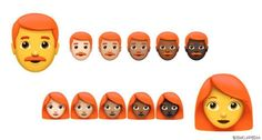 Gibt es etwa bald rothaarige Emojis? | GRAZIA Deutschland