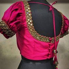 Mirror Work Blouse Design, Stylish Blouse Design, Rangoli Designs, Blouse Designs, Maggam Works, Blouses, Outfits, Amazing, Saree