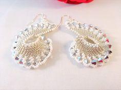 Elegante Bruids Juwelen Schelp Oorbellen Romantisch