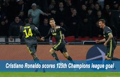 Cristiano Ronaldo scores Champions league goal as Juventus drew the first leg of their Champions League quarter-final against Ajax. Football Score, Football Players, Champions League Goals, Football Results, Soccer Predictions, Latest Sports News, Cristiano Ronaldo, Scores, Soccer Players