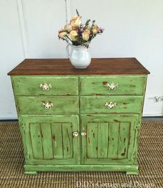 D.D.'s Cottage and Design: Green Cabinet