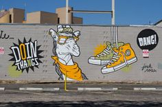 In the span of over two years, Juxtapoz magazine and Converse have collaborated on a huge urban art project called Wall to Wall. They would invite a street artist from the community to execute a mural with the Converse Star as the central theme. Austin Murals, Show Goats, Texas Travel, Street Artists, Urban Art, Senior Pictures, Wall Murals, The Row, Art Projects