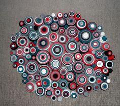 Unique art pieces made with fabric scraps // Piezas de arte únicas realizados con retazos de telas Mostly with recycled fabric scraps / SUSTAINABLE ART // En su mayoría, con retazos de telas reciclados / ARTE SUSTENTABLE