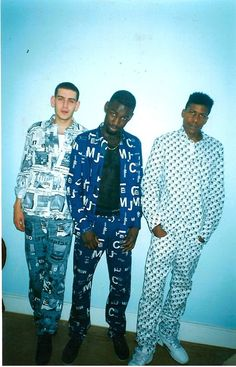 "Heartless Crew (Mighty Moe, DJ Fonti and MC Bushkin), 1998: ""All three of us, we're all wearing Mosch' in this one."""