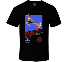 Kumite Dim Mak Video Game T Shirt  Price: 24.71 & FREE Shipping  #shirts Black And White Tees, Video Game T Shirts, White Tee Shirts, Shirt Price, Top Pattern, Sleeve Styles, Street Wear, Short Sleeves, Free Shipping