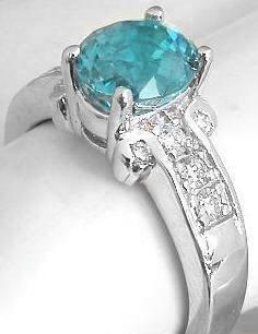 Blue Zircon Rings in white gold Diamond Alternatives, Aquamarines, Blue Zircon, Diamond Rings, Turquoise Bracelet, Blues, White Gold, Gems, Engagement Rings