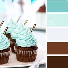 """""""Menthe Chocolat"""" is today's palette, hope you enjoy. Yesterday's board looked AMAZING, good job ladies! Cupcake Recipes, Cupcake Cakes, Pantone, Color Balance, Baby Boy Shower, Cupcakes For Baby Shower, Baby Boy Cupcakes, Boy Birthday Cupcakes, Cupcake Ideas Birthday"""