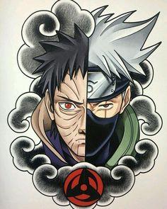 """805 curtidas, 6 comentários - Como desenhar animes 2.0 (@fanartanime_2.0) no Instagram: """"Obito VS Kakashi ATENÇÃO!!!🚨🚨 Quer aprender a desenhar seus personagens de anime/manga de forma…"""" Manga Tattoo, Naruto Tattoo, Anime Tattoos, Wallpaper Naruto Shippuden, Naruto Wallpaper, Naruto Shippuden Anime, Boruto, Kakashi And Obito, Naruto Shippudden"""
