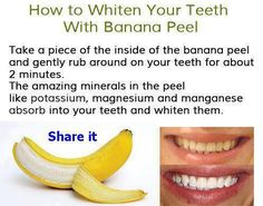 How to whiten your teeth with Banana Peel!