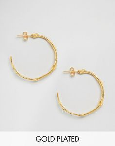 Ottoman Hands | Ottoman Hands Branch Hoop Earrings at ASOS