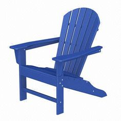 Polywood South Beach Adirondack Chair In Pacific Blue Contemporary Adirondack Chairs, Recycled Plastic Adirondack Chairs, Polywood Adirondack Chairs, Outdoor Chairs, Adirondack Furniture, Patio Chairs, Polywood Outdoor Furniture, Wood Chairs, Hammocks