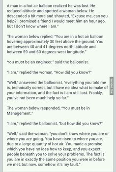 True. And funny. The engineer part is exactly how I feel about my husband sometimes