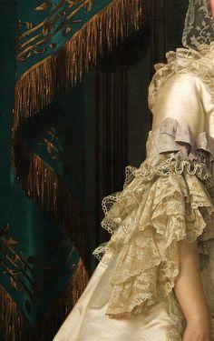 The Queen Dowager Juliane Marie,Vigilius Eriksen, 1776. Detail.