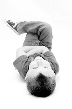 fun 5 year old boy photography pose idea SBPhotography