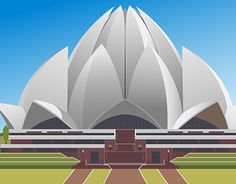Incredible India Posters, Lotus Temple, Temple Architecture, Monuments, Independence Day, Fancy Dress, New Work, Allah, Around The Worlds