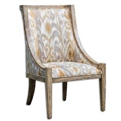 Ikat Inspired Accent Chair