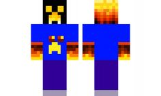 minecraft skin LAVA-CREEPER