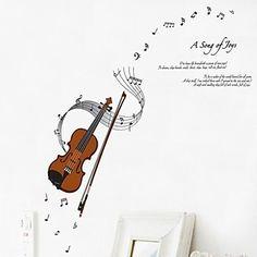 adesivos de parede decalques da parede violino adesivo decorativo – EUR € 5.45