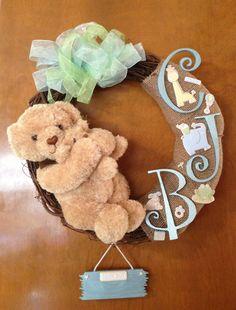 My baby boys door wreath for the hospital :)
