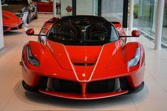 Ferrari LaFerrari Red color with white stripes