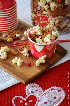 Cupid's Mix Popcorn is a sweet & salty treat for Valentine's Day~ ideal for snacking & sharing with your family or co-workers! This highly addictive mix is quick and easy to throw together...
