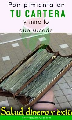 Pon pimienta en tu cartera y mira lo que sucede My Money, Money Tips, How To Make Money, Diy Projects Cans, Projects To Try, Clara Berry, Diy Crafts For Girls, White Magic, Good Night Quotes