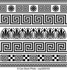 Greek Illustrations and Clipart. Greek royalty free illustrations, and drawings available to search from thousands of stock vector EPS clip art graphic designers. Border Pattern, Border Design, Pattern Design, Greek Pattern, Greek Design, Vase Crafts, Greek Art, Abstract Pattern, Mosaics