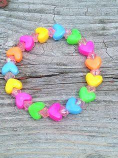 Kids Heart Bracelet~Boys Bracelet~Girls Bracelet~Slip On Bracelet by MissZoesPlace on Etsy