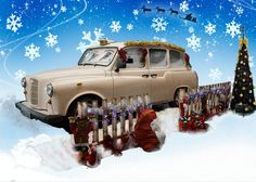 Charlie Our Christmas Themed Taxi Photo Booth Hire http://www.photo-crazy.com