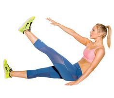 Improve your #run with this strength move: Lie faceup on floor, legs extended, arms at sides. Crunch up, raising left leg and reaching right hand toward toes. Return to start; repeat on opposite side for 1 rep. #SelfMagazine