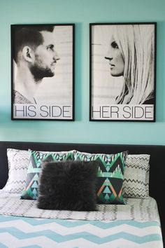 Inspiration- His Side, Her Side! Cute.  Could pose like you were kissing each other.