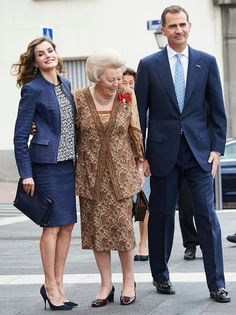 King Felipe of Spain, Queen Letizia of Spain, Princess Beatrix of The Netherlands attended the opening of the exhibition 'El Bosco, the 5th Centenary Exhibition' at Prado Museum on May 30, 2016 in Madrid.