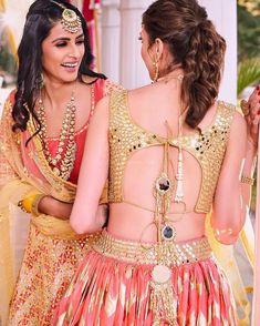 Breezy in backless blouse Saree Blouse Designs, Blouse Styles, Choli Designs, Simple Outfits, New Outfits, Lehenga Blouse, Lehnga Dress, Gown Dress, Lehenga Choli