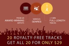20 Royalty-Free Inspirational Music Tracks - only $29!
