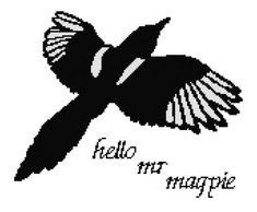 Hello Mr Magpie PDF cross stitch pattern