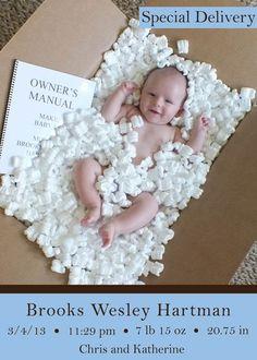 Idées pour annoncer l'arrivée d'un nouveau-né …