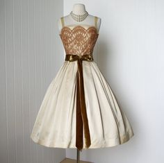 vintage 1950's dress gorgeous designer HARRY KEISER