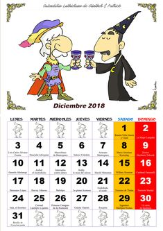 Diciembre - Calendario Les Luthiers 2018