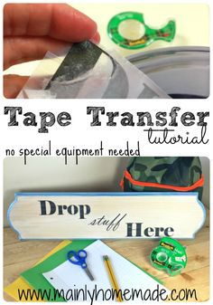 Create amazing professional looking signs without any special equipment. Learn how to make a Tape Transfer with material you already have around the house. Stay organized for back to school with my drop zone sign and printables . #ad #SchoolYearReady #CollectiveBias @Walmart