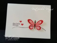 Stampin' Up! Watercolor Wings by Melissa Davies @rubberfunatics #rubberfunatics #stampinup
