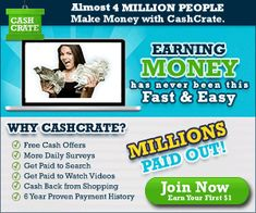 Cash Crate allows you to make money from home by participating in surveys and offers Make Easy Money Online, Earn Money Online, Make Money From Home, Way To Make Money, How To Make, Online Jobs, Free Cash, Free Money, Funny Prank Videos