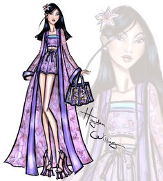 #Hayden Williams Fashion Illustrations: #Disney Divas 'Beach Beauties' by Hayden Williams: Mulan