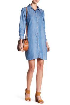 Bobeau Lace-Up Back Chambray Shirtdress Nordstrom Rack, Chambray, Shirtdress, Lace Up, Womens Fashion, Casual, Shirts, Clothes, Dresses