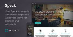 Speck WordPress Theme by MeetMighty  Meet Speck, a uniquely handcrafted WordPress theme for creatives and individuals. Stay in the creative flow with this minimal, bo