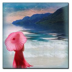 """""""The Pink Umbrella"""" by ritadolce on Polyvore featuring art"""